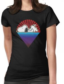 snoopy down under the stars Womens Fitted T-Shirt
