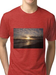 Sunset Tybee Style Tri-blend T-Shirt