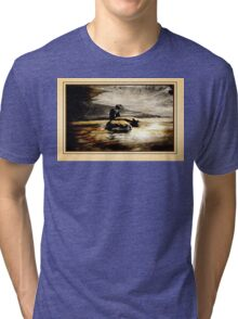 Mother and Father Canada Geese Tri-blend T-Shirt