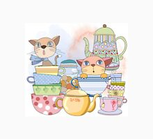 Cartoon Animals Kittens Tea Time Classic T-Shirt