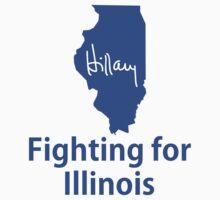 Illinois for Hillary Kids Tee