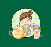 I Love Tea Time Teapot and Tea Cups Classic T-Shirt