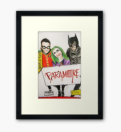 """they say that a hero can save us"" Framed Print"