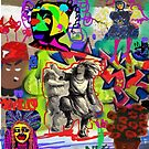 Wall Graffiti Collage #1 by Kater
