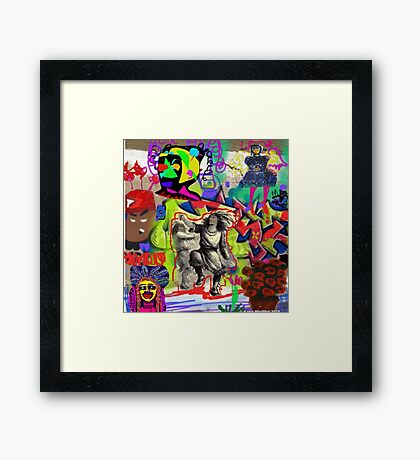 Wall Graffiti Collage #1 Framed Print