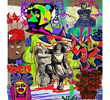Wall Graffiti Collage #1 Photographic Print
