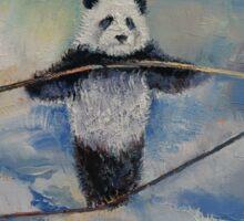 Panda Tightrope Sticker