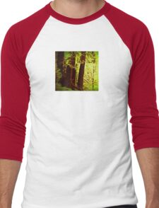 Magical Redwoods In Abstract  Men's Baseball ¾ T-Shirt