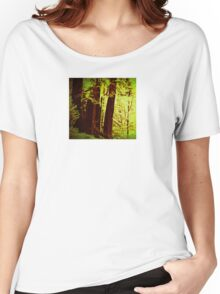 Magical Redwoods In Abstract  Women's Relaxed Fit T-Shirt
