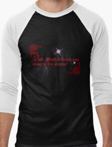 Quotes and quips - doth Mother know... Men's Baseball ¾ T-Shirt