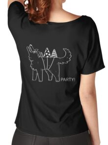 Party Dog – B&W Women's Relaxed Fit T-Shirt