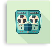 Reel to Reel Tape Recorder Canvas Print
