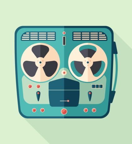 Reel to Reel Tape Recorder Sticker