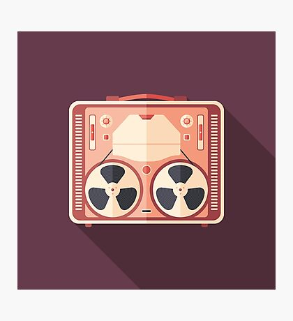 Portable Reel Tape Recorder Photographic Print