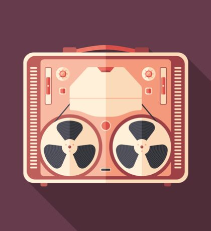 Portable Reel Tape Recorder Sticker