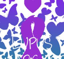 Lupus Butterflies Sticker