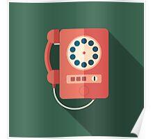 Retro Payphone Poster
