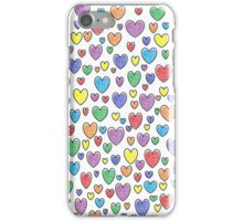 Colored Hearts  iPhone Case/Skin