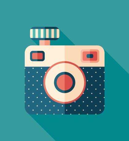 Camera with Flash Sticker