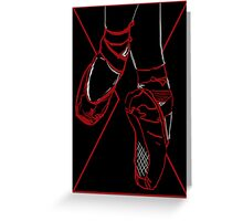 Red Room Ruby Shoes  Greeting Card