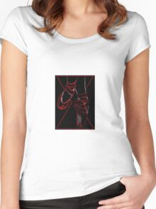 Red Room Ruby Shoes  Women's Fitted Scoop T-Shirt