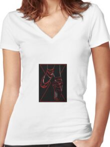 Red Room Ruby Shoes  Women's Fitted V-Neck T-Shirt