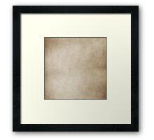Vintage Tan Brown Parchment Antique Paper Grunge Background Framed Print