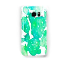 Green Watercolour Cactus Samsung Galaxy Case/Skin
