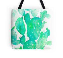 Green Watercolour Cactus Tote Bag