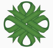Lime Green Clover Ribbon Kids Tee