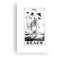 Death Tarot Card - Ink Drawing Metal Print