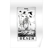 Death Tarot Card - Ink Drawing Poster