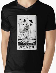 Death Tarot Card - Ink Drawing Mens V-Neck T-Shirt