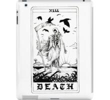 Death Tarot Card - Ink Drawing iPad Case/Skin