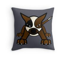 Pit Bully Pup  Throw Pillow