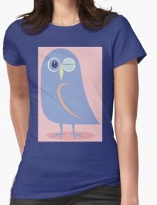 WINKING BLINKING OWL Womens Fitted T-Shirt