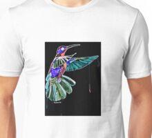 Negative Inversion Watercolor Hummingbird  Unisex T-Shirt