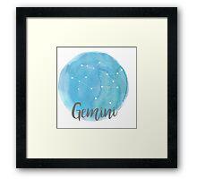 Gemini Water Color Constellation Framed Print