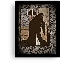 How Queen Guinevere  Made Her a Nun Canvas Print
