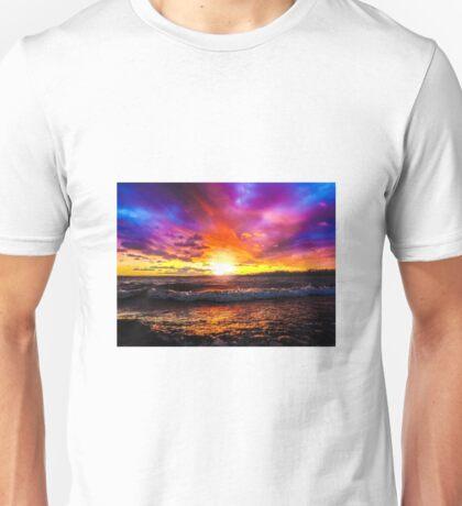 Stormy Sunset on Lake Neatahwanta Unisex T-Shirt