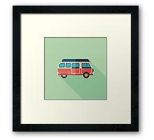 Retro Minivan Framed Print
