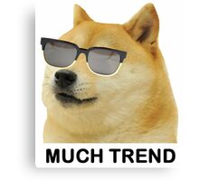 MUCH TREND Doge  Canvas Print