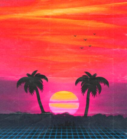 Retro sunset 2 Sticker