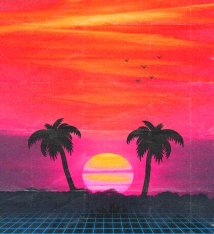 Retro sunset 2 Sticker