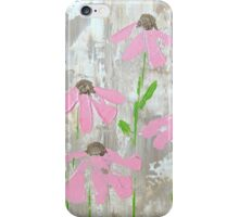 Pink Coneflowers on Neutrals iPhone Case/Skin