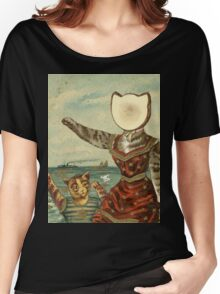 Neutral Kitty Hotel Women's Relaxed Fit T-Shirt