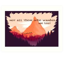 Firewatch Lord of the Rings Tolkien Quote Art Print