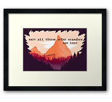 Firewatch Lord of the Rings Tolkien Quote Framed Print