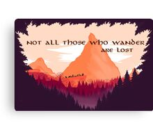 Firewatch Lord of the Rings Tolkien Quote Canvas Print