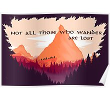 Firewatch Lord of the Rings Tolkien Quote Poster